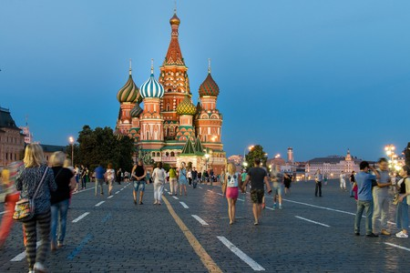 Moscovites in Red Square