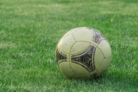 An old soccer ball