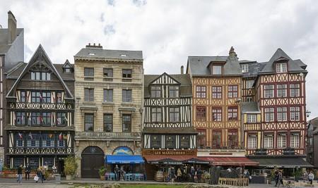 Rouen's Old Market Square
