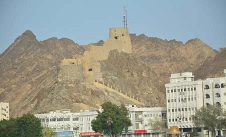 Muttrah Fort watches over the sleepy town below
