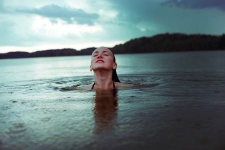 Wild Swimming in a lake