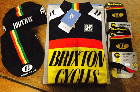 Brixton Cycles merchandise.