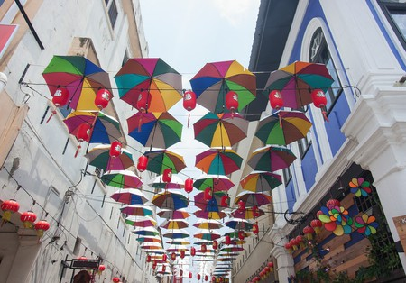 One of the many art decorations in Ipoh's Market Lane