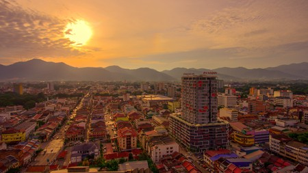 Sunset view of Ipoh, Perak