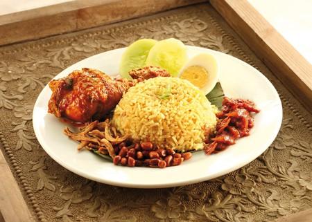Nasi briyani rendang chicken