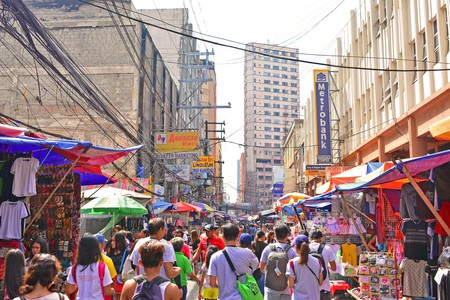 Divisoria street is a commercial centre known as a place for low-priced goods, in Manila, Philippines