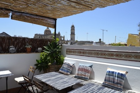 The roof terrace at La Fonda Barranco