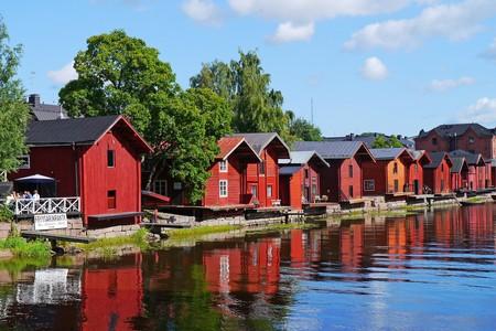Wooden houses in Porvoo, Finland
