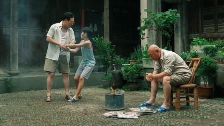 "Zhang Songwen, Rong Zishan, and Ku Pao-ming in ""End of Summer"""