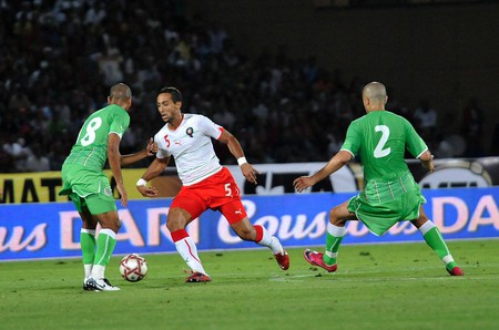 Mehdi Benatia (in white) in a match against Algeria