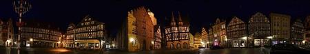 Alsfeld marketplace at night