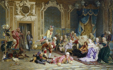 Jesters in Anna Ioannovna's bedroom by Jacobi | © Wikimedia Commons