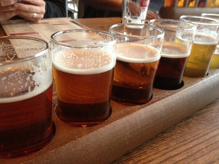 A selection of craft beers