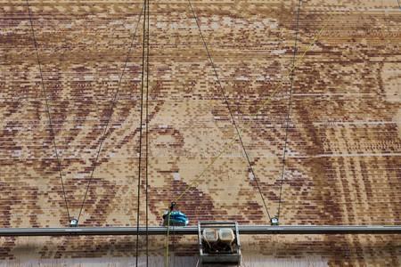 Street art made by robot