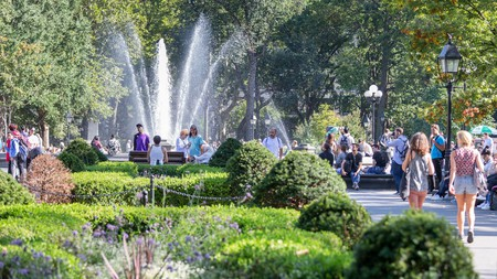 Washington Square Park is one of the best people-watching spots in New York City