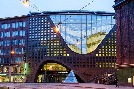 The Kaisa Library building of the University of Helsinki, Finland
