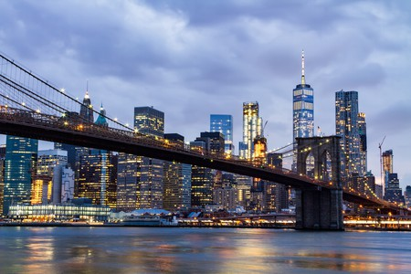 Walk the Brooklyn Bridge to start your tour