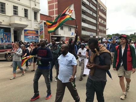 Zimbabweans took to the streets last year to demand the removal of Robert Mugabe
