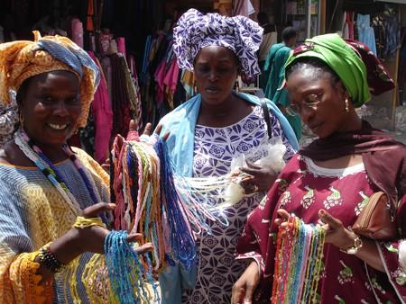 Dakar women wearing female boubous