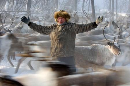 Evenk reindeer herder