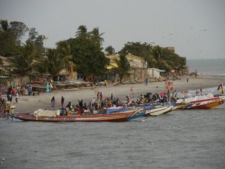 Pirogue on the River Gambia