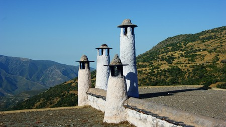 Traditional chimneys in the Alpujarra region of the Sierra Nevada