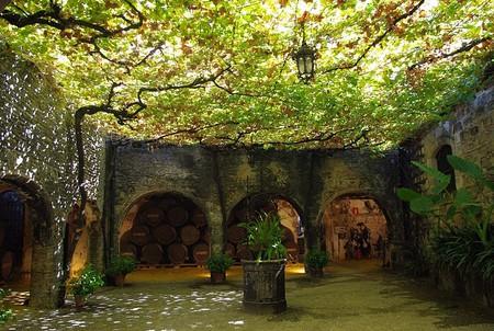A patio in the Tio Pepe Bodegas in Jerez de la Frontera, Spain