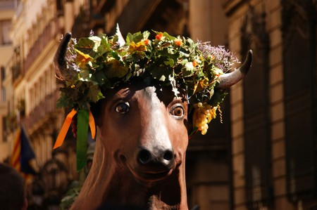 A traditional float in Barcelona © PhotographYeah!