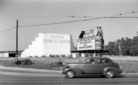 An old American drive-in theater from 1946