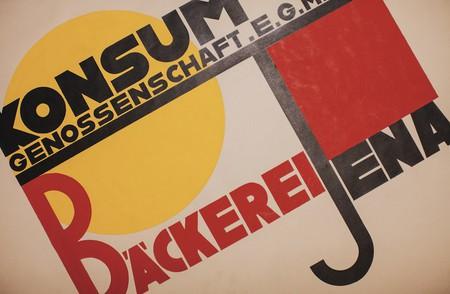 An archival poster from the Bauhaus Dessau