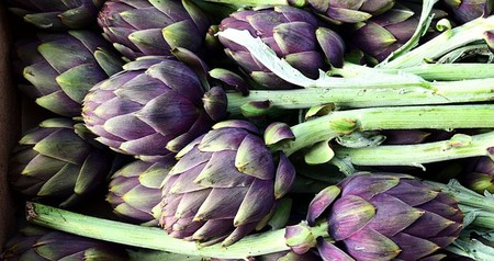 Artichokes before being prepped and deep fried