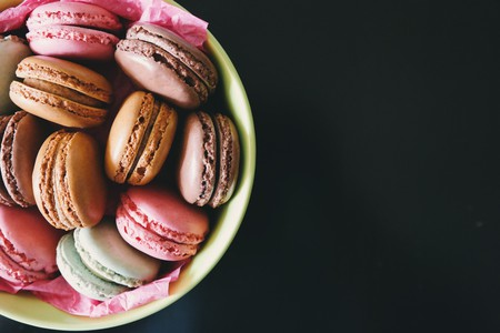 Traditional, delicate macarons