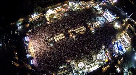 The masses of inebriated folk at Belgrade Beer Fest