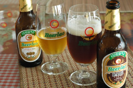 Beer Lao and Beer Lao Dark