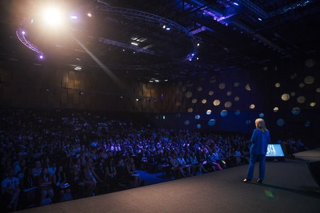 The main stage at Women of Silicon Roundabout 2018