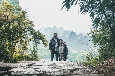 Creson and his grandma in Yangshuo, China | © Nathanel Creson