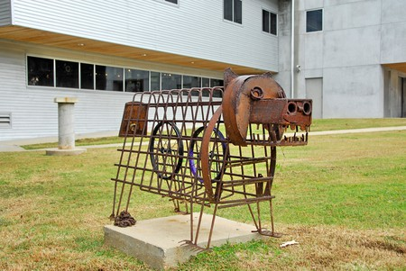 Iron sculpture in front of the MS Craft Center in Jackson, Mississippi. Image shot 2013. Exact date unknown.