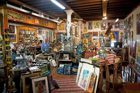 Interior of the Attic Gallery. Vicksburg Mississippi