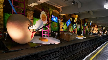 Heather Philipson's Art on the Underground commission 'my name is lettie eggsyrub' at Gloucester Road station