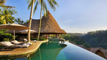 Take in beautiful views with your morning swim at the Viceroy Bali