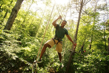 Climb, zip and soar through the canopy in Swope Park