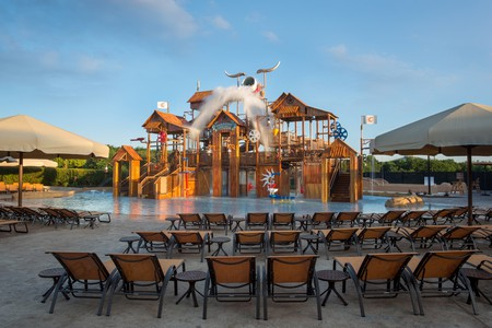 Paradise Springs at the Gaylord Texan has a western-themed water playground.