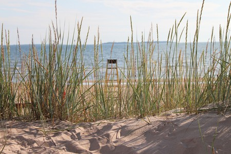 View of the Baltic Sea from the sand dunes at Yyteri Cape