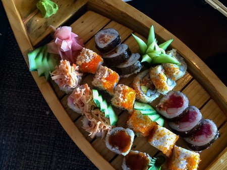 Sushi boat at Yoshi