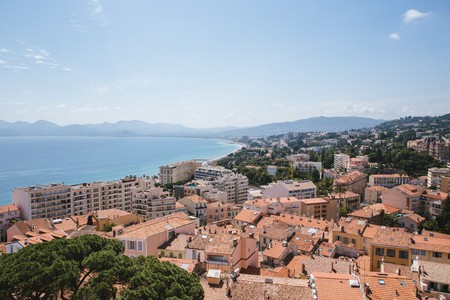 View from Old Town Le Suquet, Cannes, France