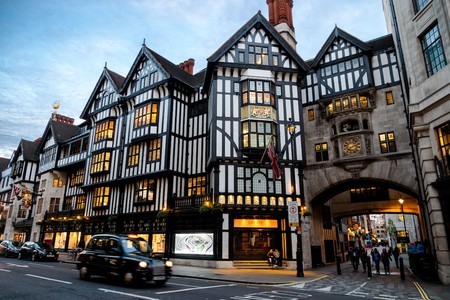 The iconic Liberty London store in Soho