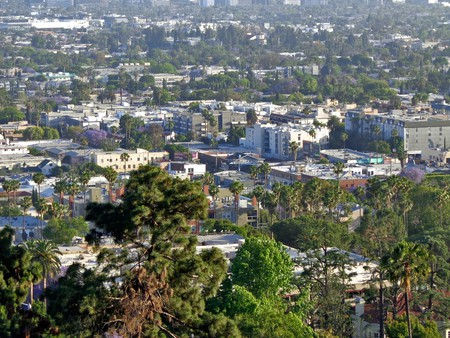 A view of Los Angeles