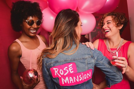 For all things rosé, head to the Rosé Mansion pop-up