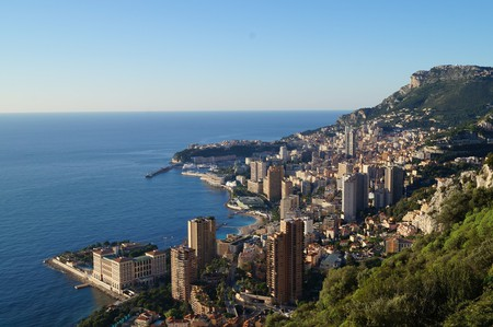 Monaco rising up from the Mediterranean