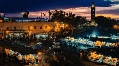 A market in Marrakesh, Morocco